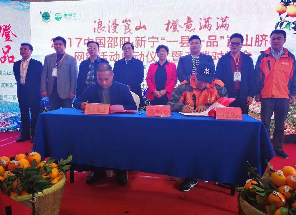 湖南新宁精准服务脐橙全产业链实现5万果农脱贫